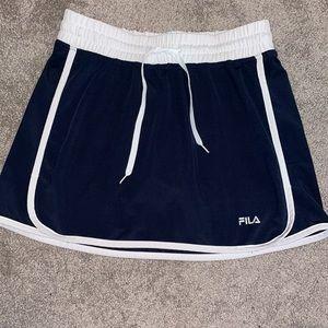 Small FILA golf tennis skirt skort navy women's